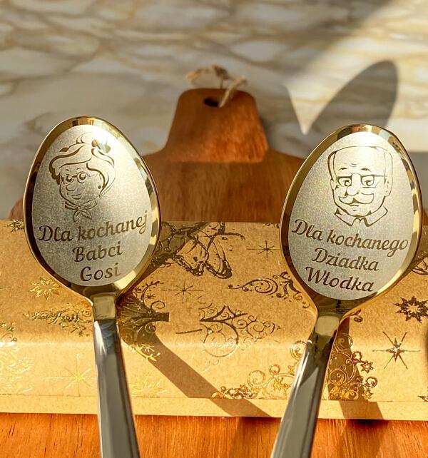2 łyżeczki z grawerem Kochanej Babci i Kochanemu dziadkowi na prezent dziadkom